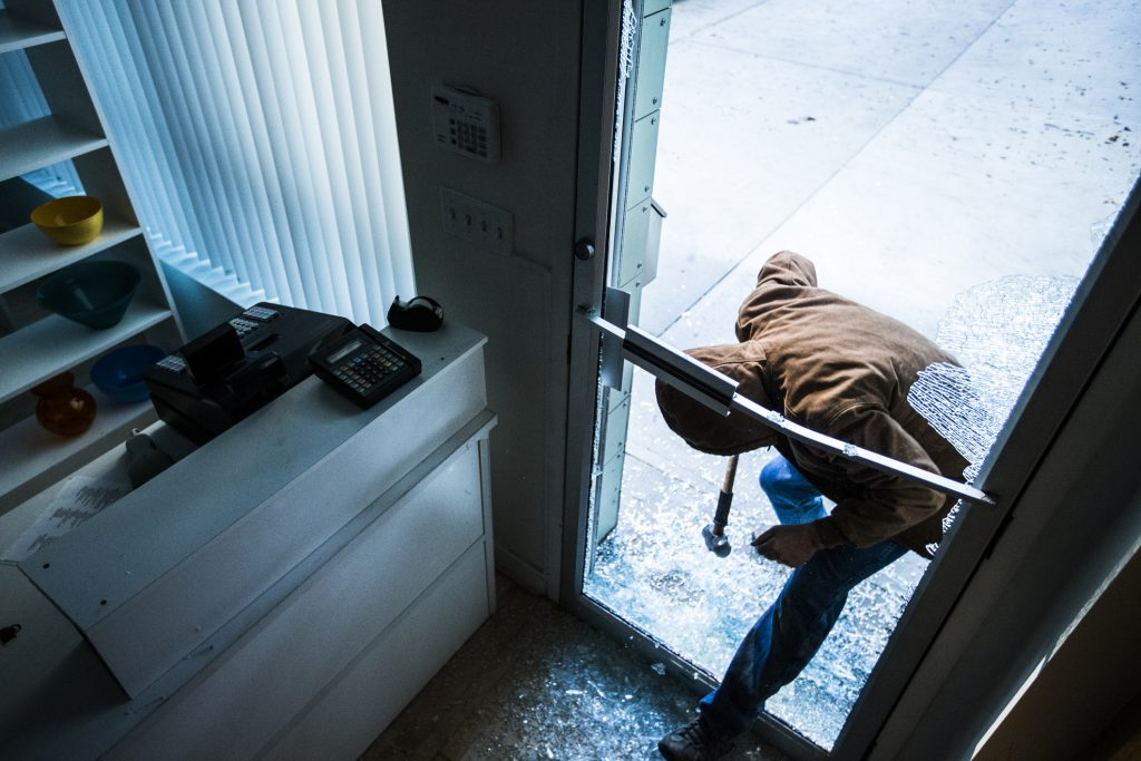 Burglary - commercial business retail security