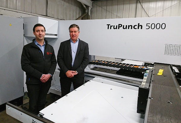 Metador's Tristan and Simon with the new TruPunch 5000 machine