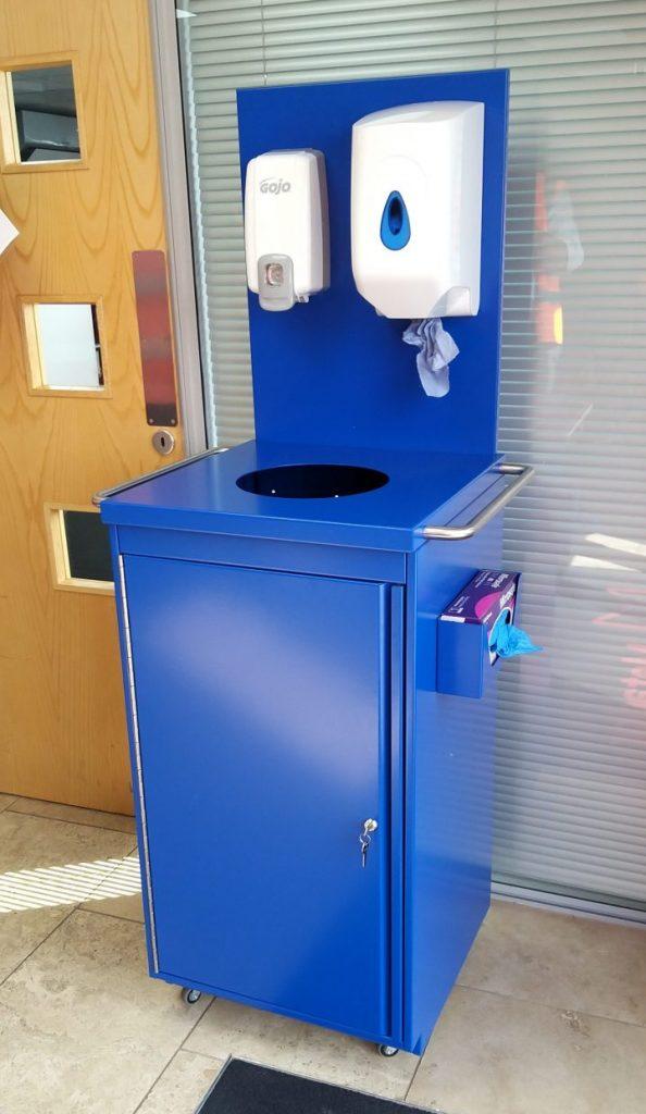 MetaStor H155 hand sanitising station